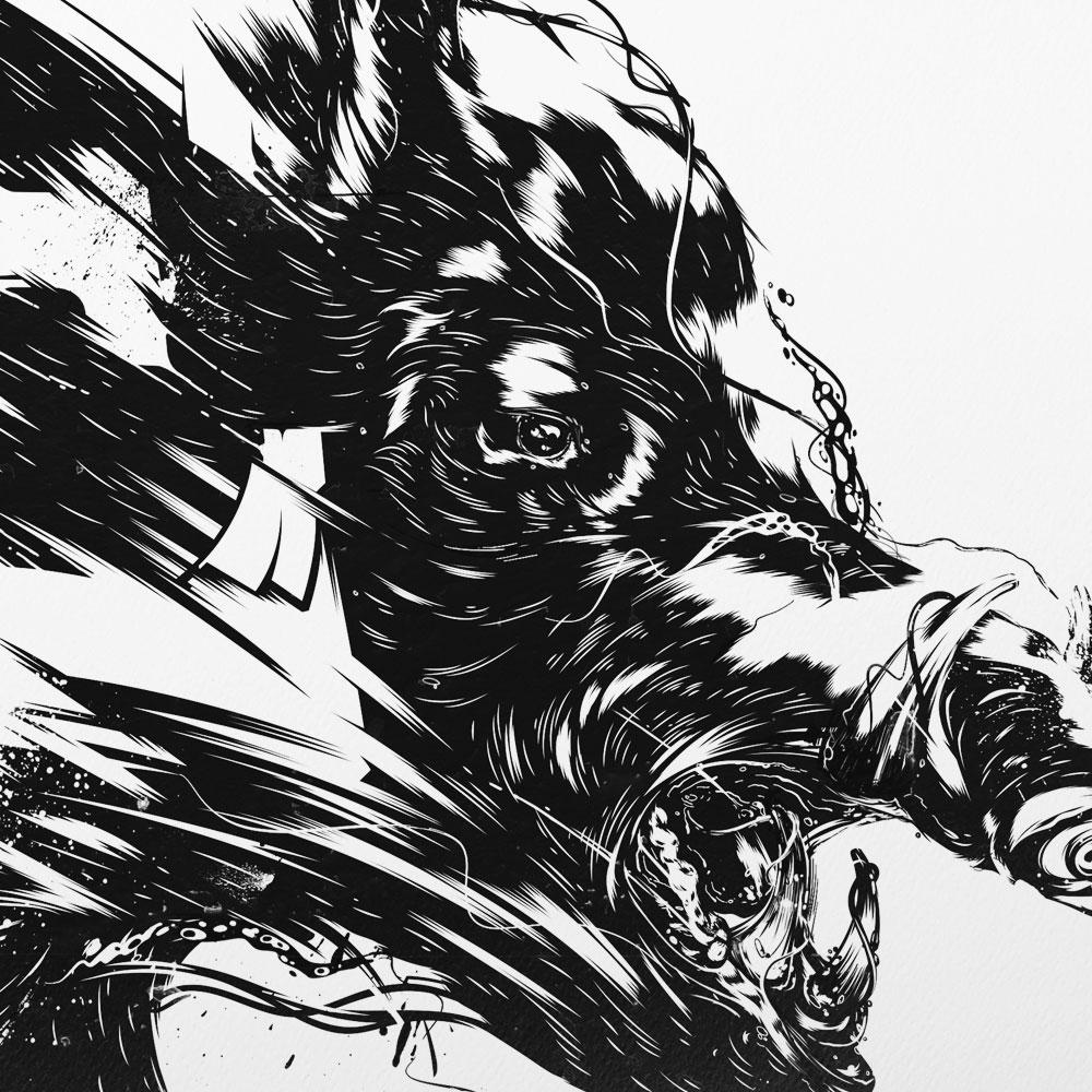 Boar head illustrator