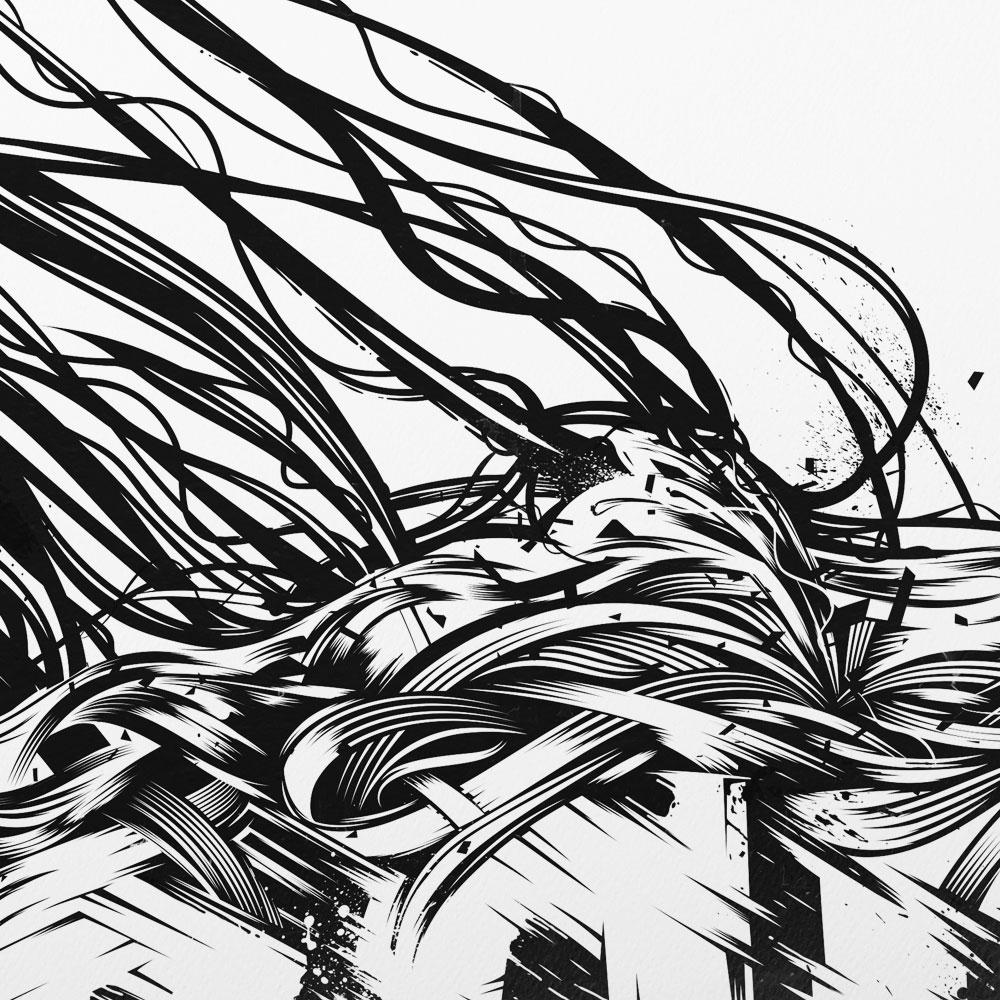 Dynamic strokes turned ornamental